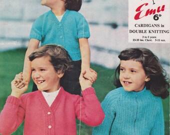 Knitting Patterns Children Sweater Pattern Cardigan Instant Download PDF Pattern Digital Download Raglan Sleeve Child Pattern Girls Pattern