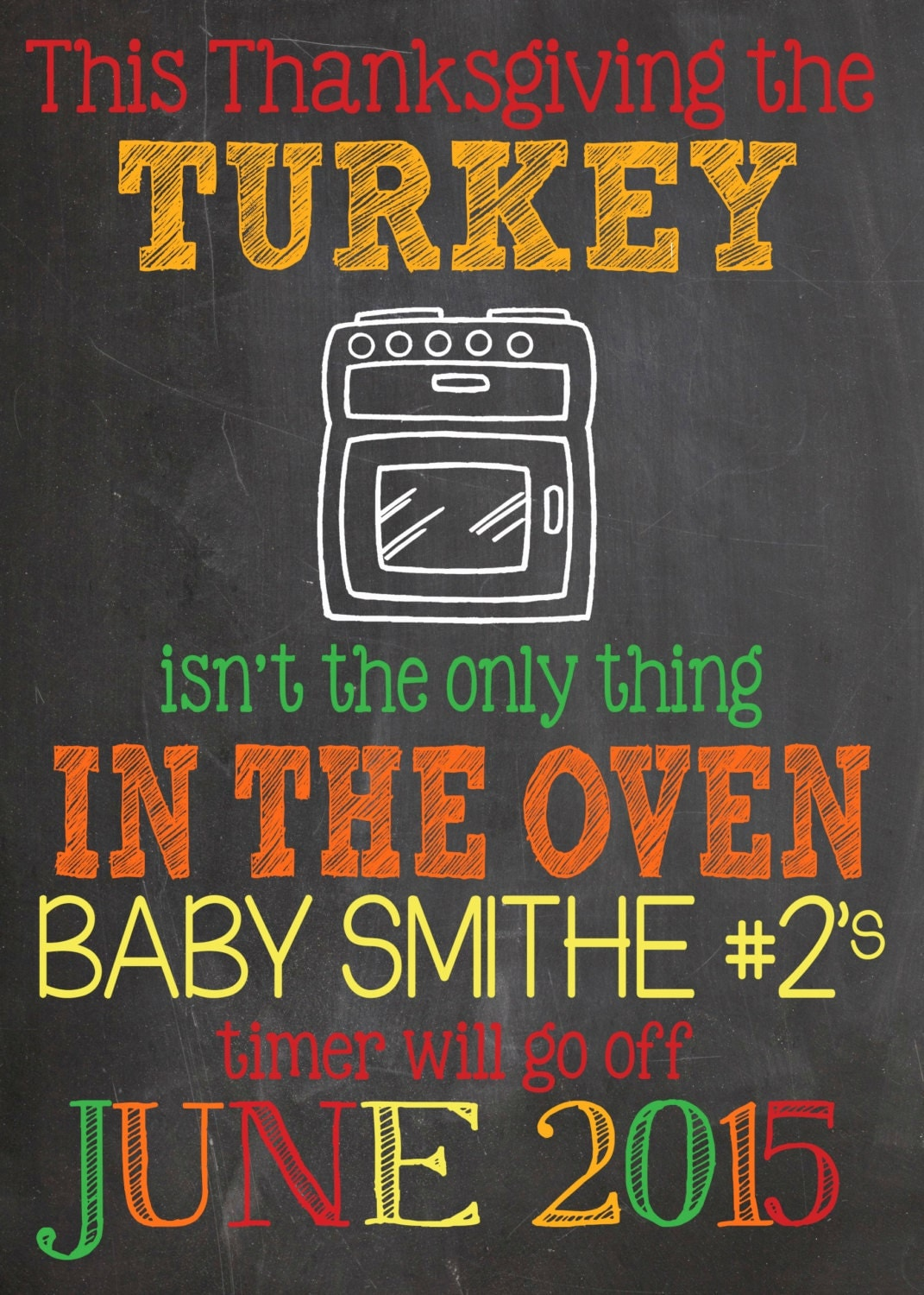 thanksgiving pregnancy announcement by lalaexpressions on etsy