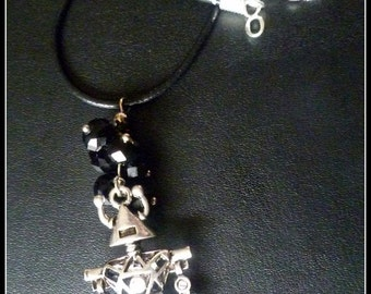 Big Effin Robot necklace