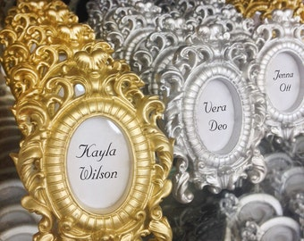 Ornate Wedding Decor Table Name Wedding Place Card Holder Silver, Gold Table Number Holder Wedding Table Setting - Place Cards / Name Cards