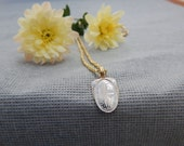 RESERVED - Vintage White and Yellow Gold Pendant Necklace