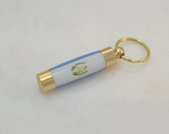 LDS Consecrated Oil Vial with the Flag of Guatemala Key Chain