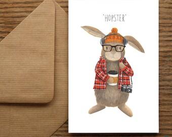 Hopster Greetings Card