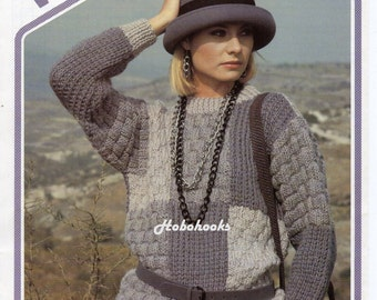 Knitting Pattern Patchwork Cardigan : Polo neck Etsy