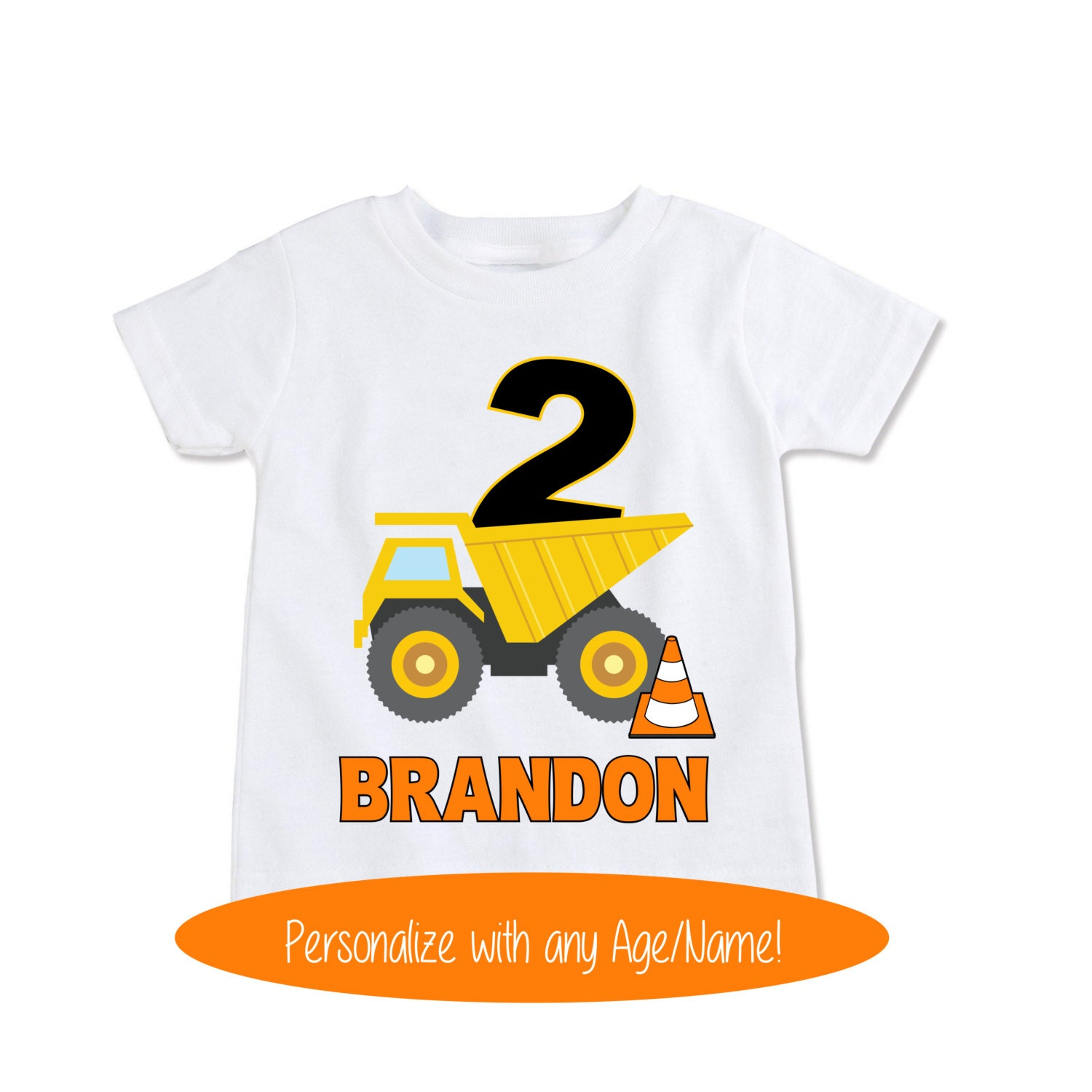 Dump Truck Shirt Construction Birthday Shirt Toddler Gift