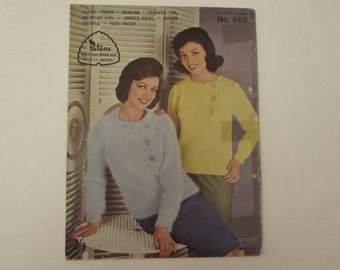 Kitting etsy vintage 1960s knitting book patons no 660 with tv designs fandeluxe Choice Image