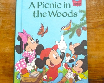 Walt Disney Productions A Picnic in the Woods Children's Book