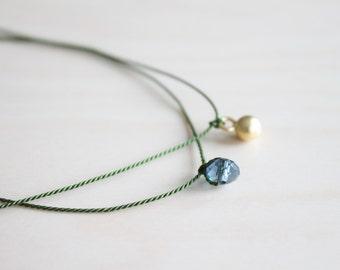 Set of 2 wish bracelets / silk bracelet / dainty jewelry / friendship cord bracelet