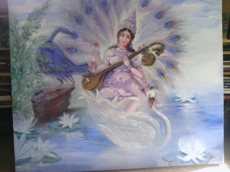 Image result for goddess saraswati paintings abstract