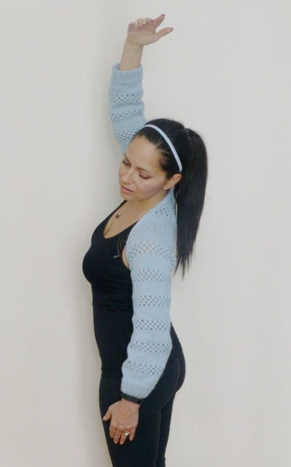 Ballet Shrug Knitting Pattern : Items similar to Tiana Shrug Ballet Yoga Office Casual wear Knitting Pattern/...