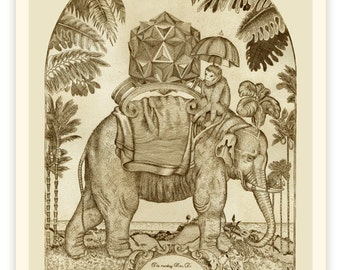 Hou Zi the monkey and the burden of the rational mind - Etching Ltd 50
