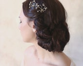 Dainty sparkle bridal pin pair - Crystal swirl bobby pin pair - Style 516 - Ready to Ship