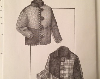 Patchwork Jacket Pattern - Pieced Jacket  #810 by Great Copy Patterns