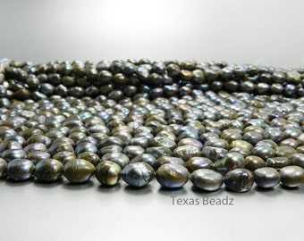 Black Pearls Rusted Scorched Earth Color and Texture Iridescent Beads Freshwater Pearls