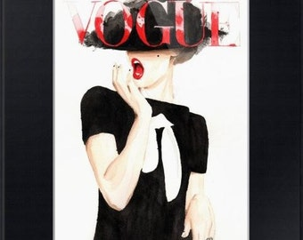 Vogue. Frida Gustavsson. Print and Black Mat. Frame Ready. 8x10 or 11x14