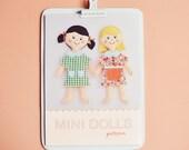 mini dolls pdf pattern/tutorial