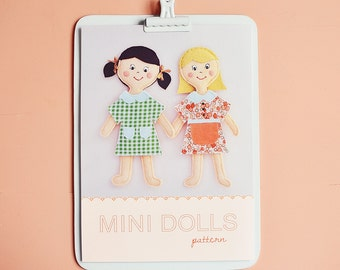 mini dolls pdf pattern/tutorial