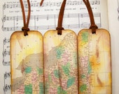 Map Gifts for Him New York Map Bookmark Set of 3 1827 Map Gifts for Men Bookmarks for Men Gifts for Guys
