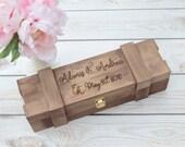 Personalized wooden Wine box- -keepsake box- wedding gift