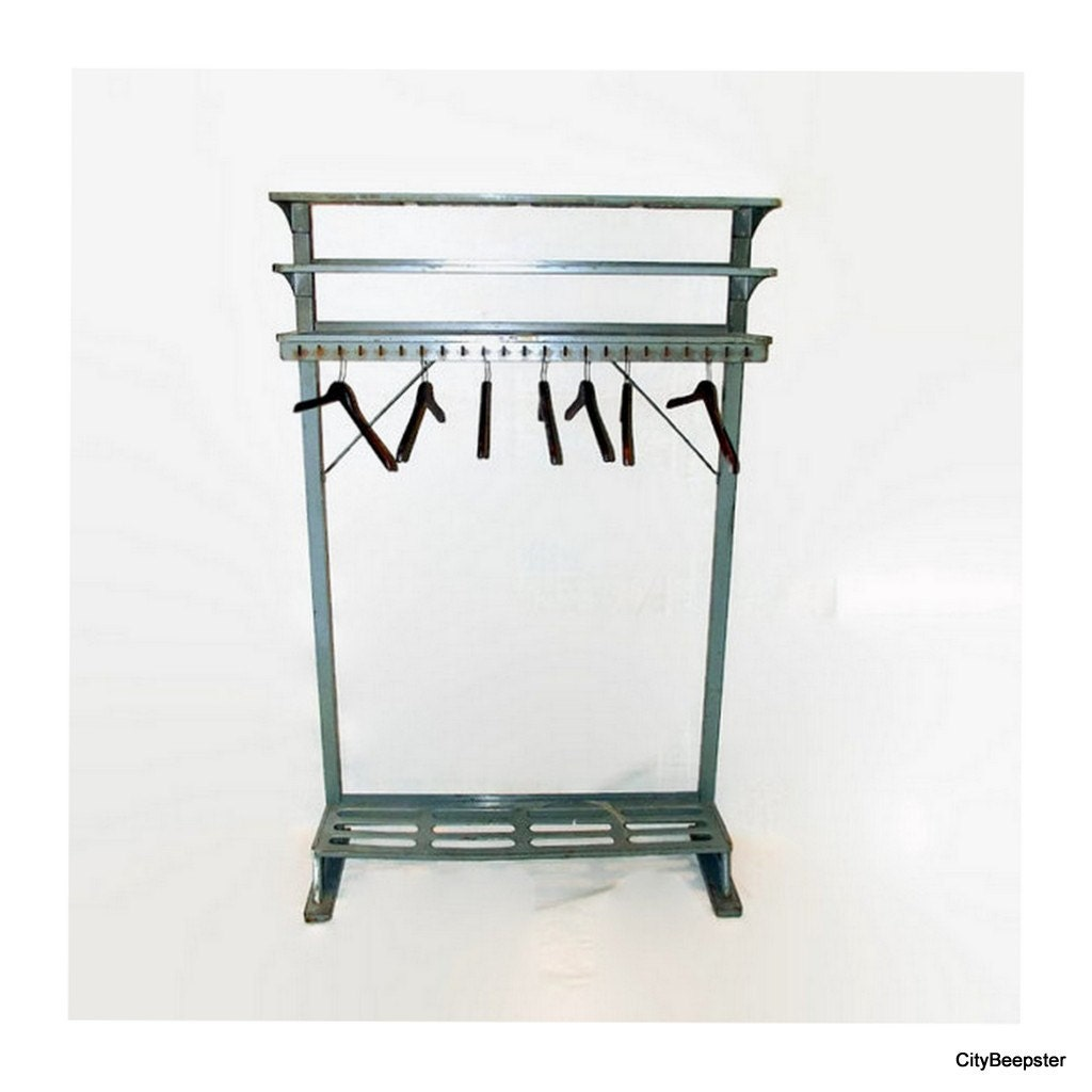 Reserved For Cassie Vintage Industrial Coat Rack By