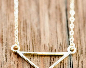 Leonani necklace - gold triangle necklace, gold chevron necklace, gold layering necklace, gold filled necklace, strand necklace, maui hawaii