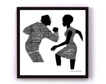 Ska, art print, giclee print, wall art, black and white print, wall print