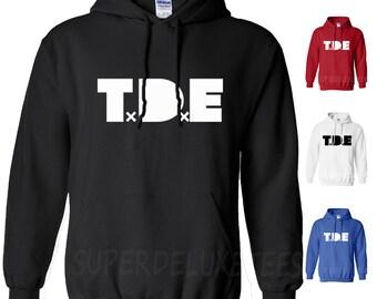TDE Kendrick Lamar Ab-Soul Hooded Sweatshirt Top Dawg Entertainment Hoodie Rap Hip Hop Top Dawg Entertainment