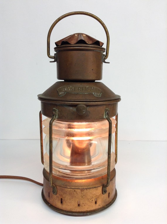 Nautische Vintage Messing Lampe Laterne Ankerlicht Dhr Den