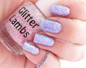 It's Snowing Cotton Candy: Christmas Glitter Topper Nail Polish