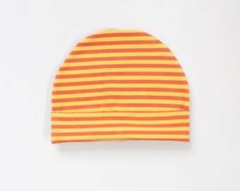 organic baby hat | sunshine + clementine