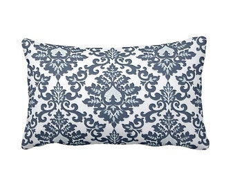 Navy Blue Pillow Cover Navy Throw Pillow Cover Navy Pillow Damask Pillow Cover Navy Lumbar Pillow Blue Cushion 12x18 Pillows 12x20 Pillows