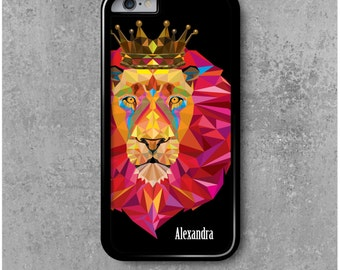 IPhone 6 / 6s Case Lion Personalized with First name (Alexandra, Clélia, Marie...)