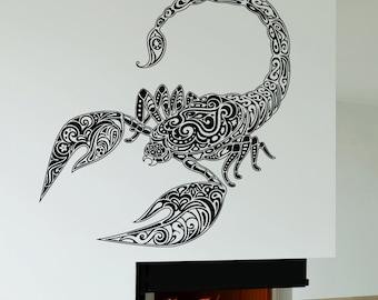 scorpion tattoo etsy de. Black Bedroom Furniture Sets. Home Design Ideas