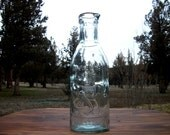 Absolutely Pure Milk Bottle Aqua Blue Green Tint Glass Collectible Gift Ideas
