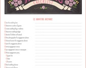 12 Month Wedding Checklist - 17 Pages Wedding Planner Checklist Printable PDF - BEST SELLER!