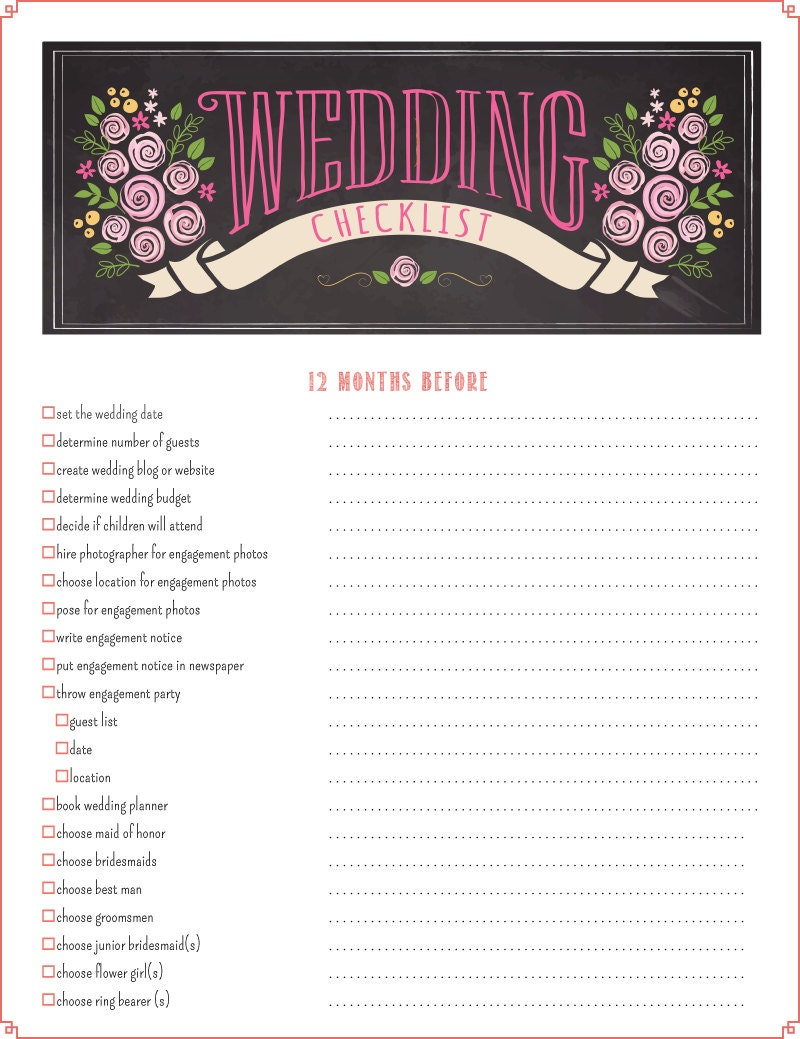 It is an image of Divine Printable Wedding Planning Checklist