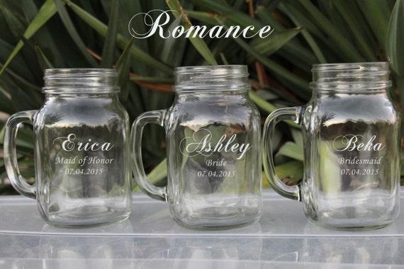 Unique Wedding Gifts Etsy : ... Wedding Gift Ideas, Bridesmaid Wedding favors, Mason Jar on Etsy