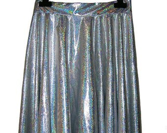 Handmade Holographic 90's Grunge Future Skater Skirt size XS - S - M - L - XL Various Colors