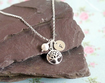 Tree of Life Necklace, Mothers Day Gift Idea for Her, Mothers Necklace, Silver Tree, Gift Idea for Wife, Personalised Necklace, Family Tree
