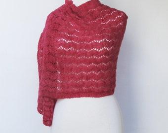 Pink Wrap Woman's Pink Fuchsia Shawl Woman's Pink Lace Woman's Pink Shawl