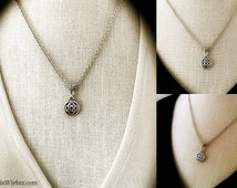 Celtic Necklace, Celtic Knot Necklace, Celtic Jewelry, Love Knot, Minimal Trinity Pendant, Outlander Bohemian Bridal, Celtic Bridesmaid Gift