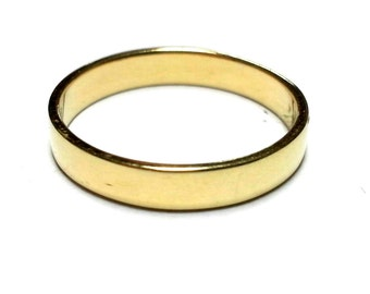 Simple Wedding ring Wedding band Gold band Gold wedding Curved Ring Fine Jewelry Classic wedding ring his and hers wedding rings Polished