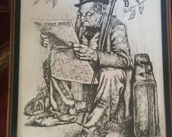 Jim Daly Wall Street Journal Hobo Print