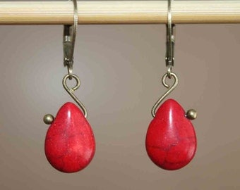 Red Earrings Jewelry Dangle Earrings Drop Earrings Small Earrings Birthday Gift for women Gift For Her