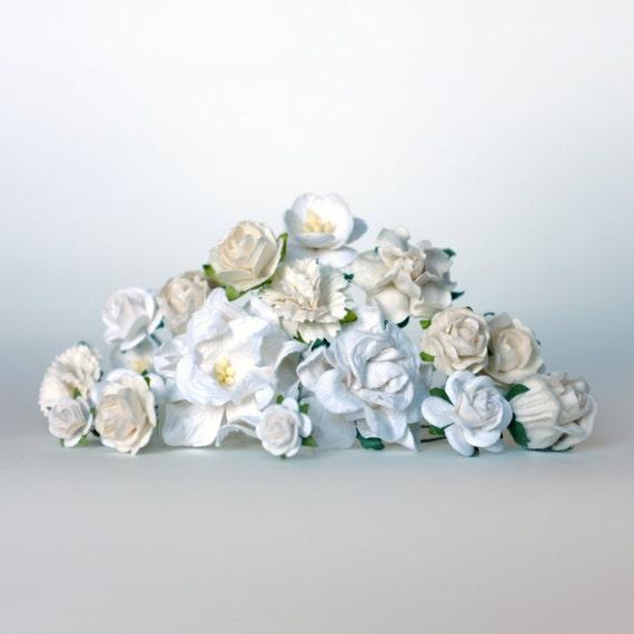 DIY White Flower Crown Kit DIY Bridal By OhDinaFlowerCrowns