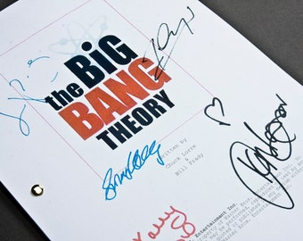 The Big Bang Theory TV Script with Signatures / Autographs Reprint Unique Gift