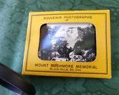 Vintage/Rare 1948 Mount Rushmore Memorial souvenir black and white mini photos, home decor, gift for him, man cave decor