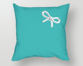 18 x 18 Pillow Cover - One Pillow Cover with insert - Accent Pillow - Decorative Pillow - Throw Pillow Cover Case Dark Tosca Blue