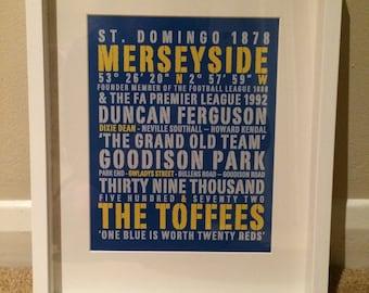 Everton Word Art