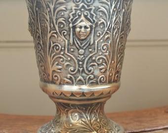 Vintage Ceramic Goddess Vase or Urn